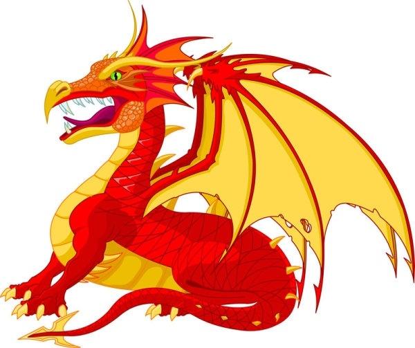 600x503 Cartoon Dragon Clip Art Free Vector Download (214,228 Free Vector