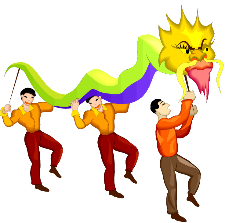 750x730 Asians Clipart Dragon Dance