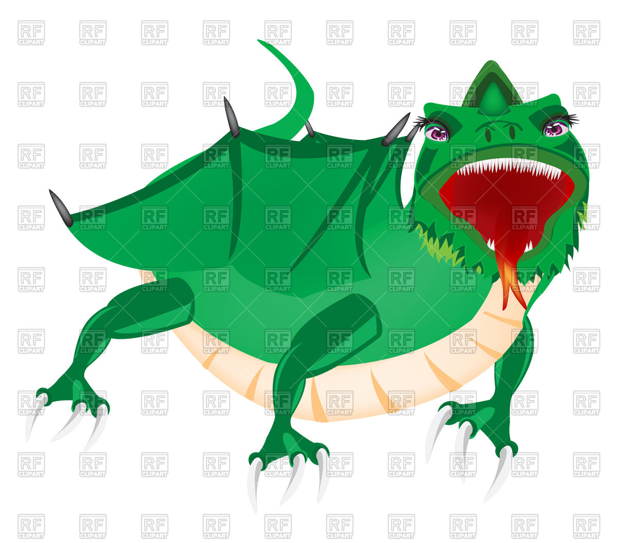 1200x1056 Dragon With Open Mouth Royalty Free Vector Clip Art Image