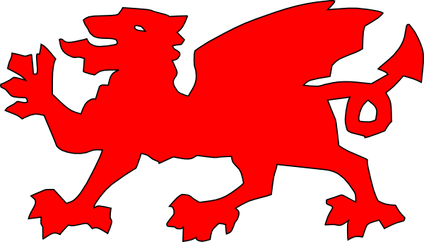 600x342 Welsh Dragon Red Clip Art