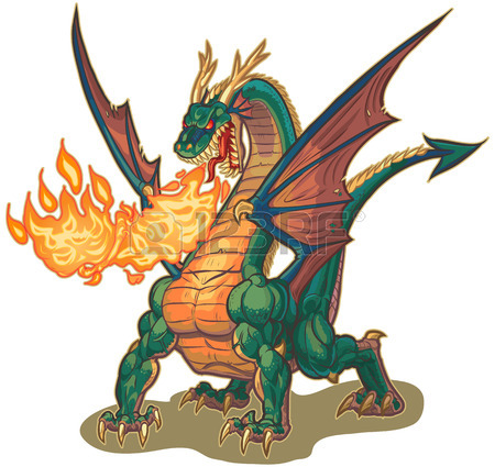 450x425 Dragon Clip Art