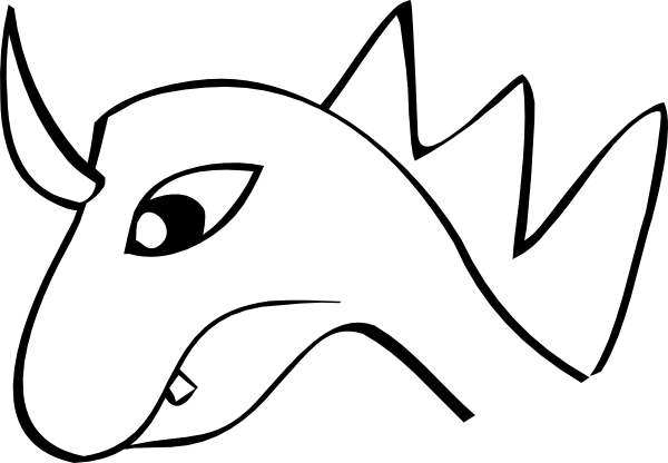 600x416 Comic Dragon Head Clip Art