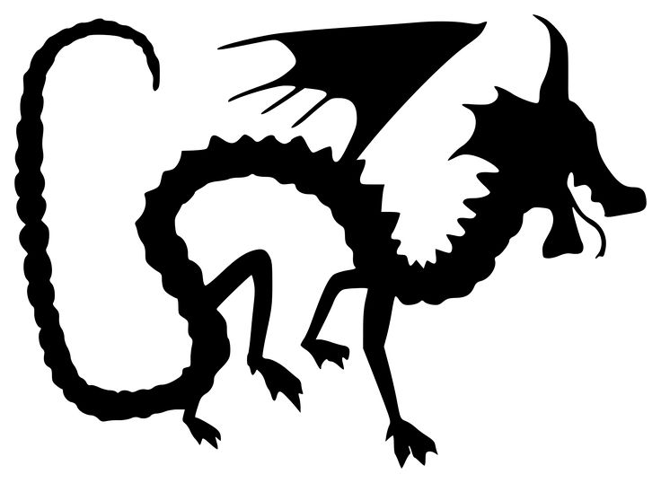 Dragon Silhouette Clipart