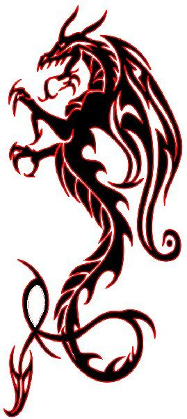 269x600 Best 25+ Dragon tattoo stencil ideas Dragon tattoo