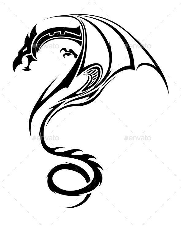 590x741 Best 25+ Tribal dragon tattoos ideas Dragon tattoo
