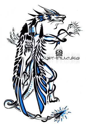 300x447 tribal dragon tattoos