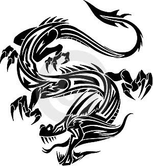 300x327 23 best Japanese Dragon Tribal Tattoo images
