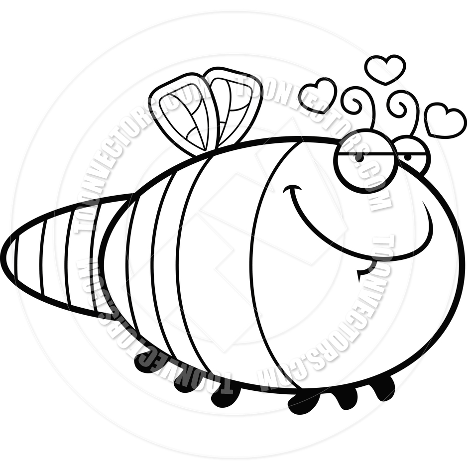 940x940 Cartoon Dragonfly In Love (Black And White Line Art) By Cory