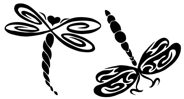 600x323 Dragonfly Clipart Black And White