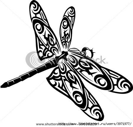 450x430 19 Best Dragonfly Tattoo Outlines Images Design