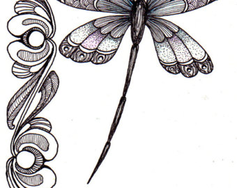 340x270 Dragonfly Clipart Psychedelic