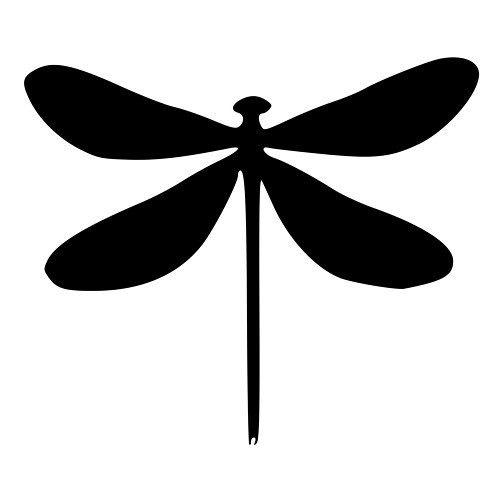 500x500 Black Clipart Dragonfly