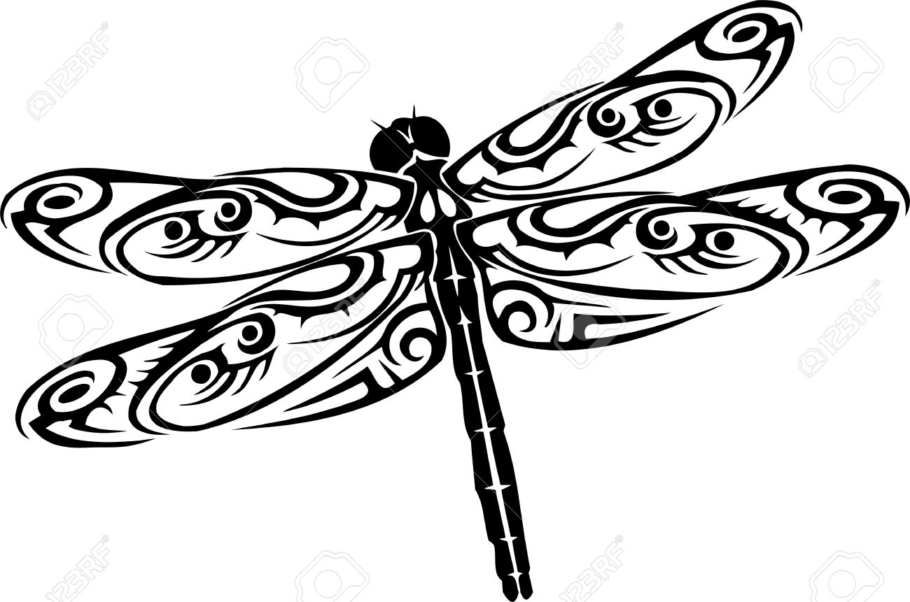 Dragonfly Outline
