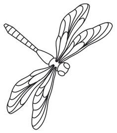 photograph relating to Dragonfly Template Printable named Dragonfly Outlines Totally free down load simplest Dragonfly Outlines