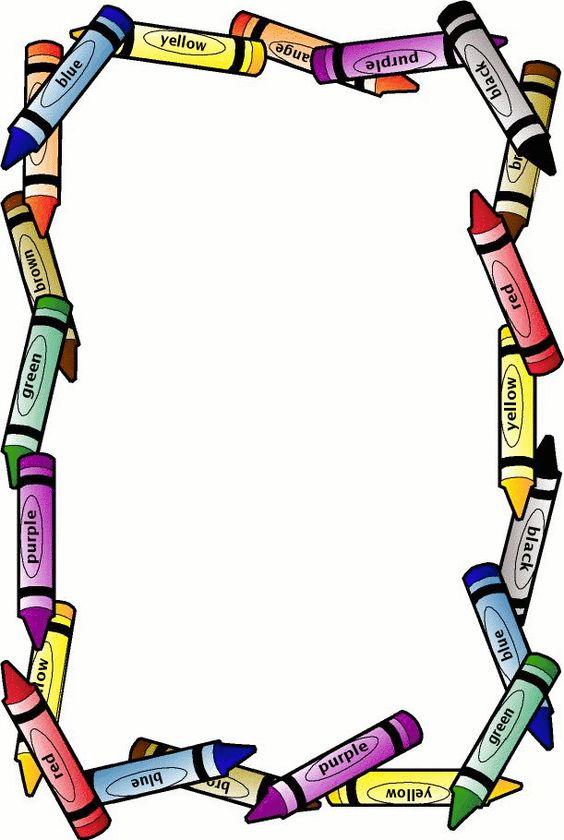 564x840 School Borders Crayon Border