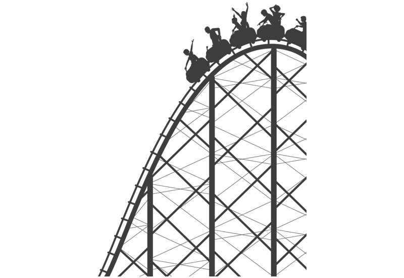 800x550 Roller Coaster Wall Decal Easy Decals