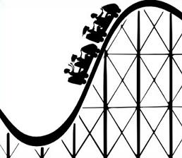 258x224 Simple Clipart Roller Coaster
