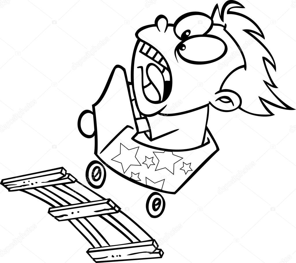 1024x909 Cartoon Roller Coaster Ride Stock Vector Ronleishman