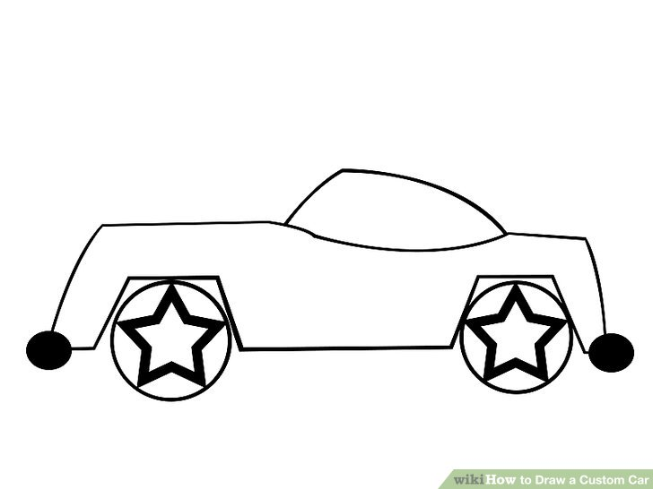 728x546 How To Draw A Custom Car 8 Steps (With Pictures)