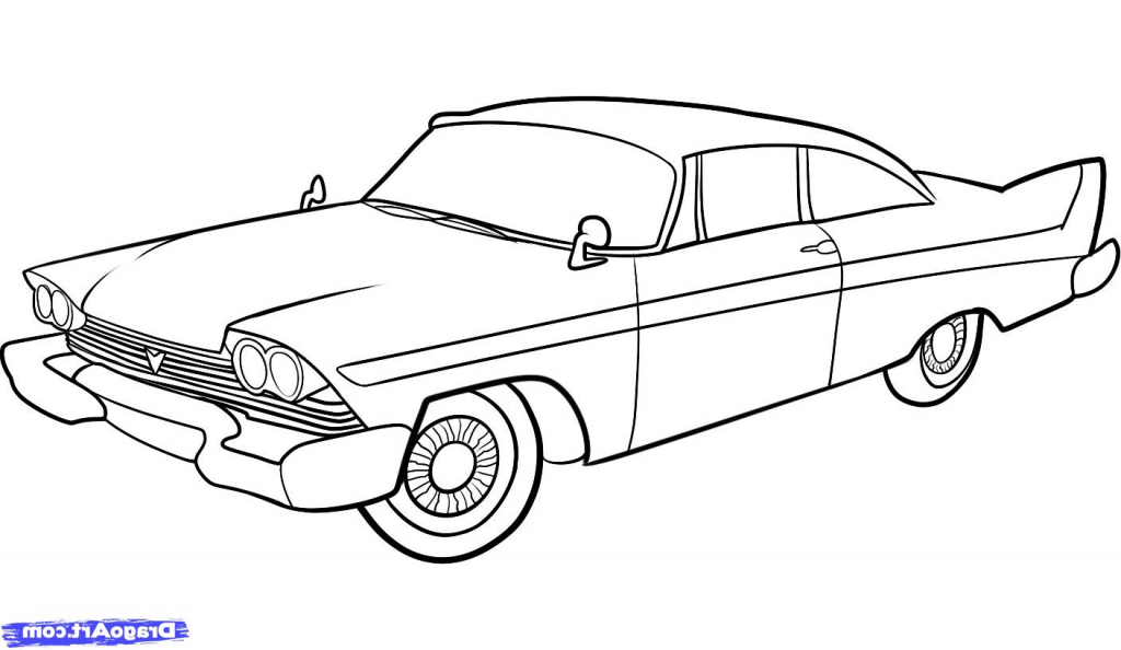 1024x594 A Drawing Of A Car How To Draw A Camaro Step Step Cars Draw Cars