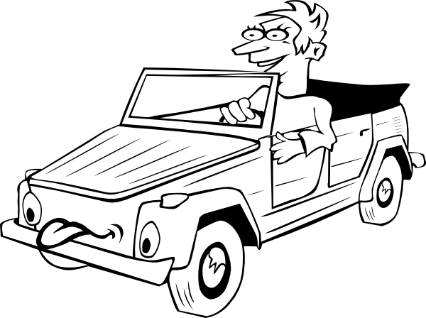 600x448 Car Drawing Clip Art
