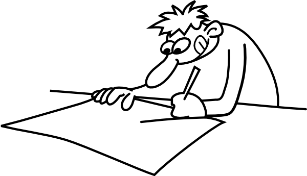 600x345 Man Drawing Clip Art