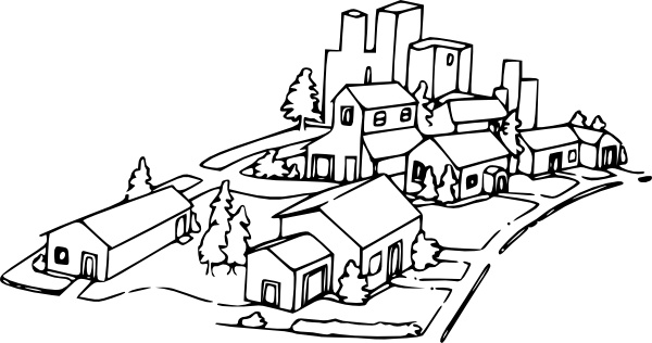 600x316 Neighborhood Clip Art Free Vector In Open Office Drawing Svg