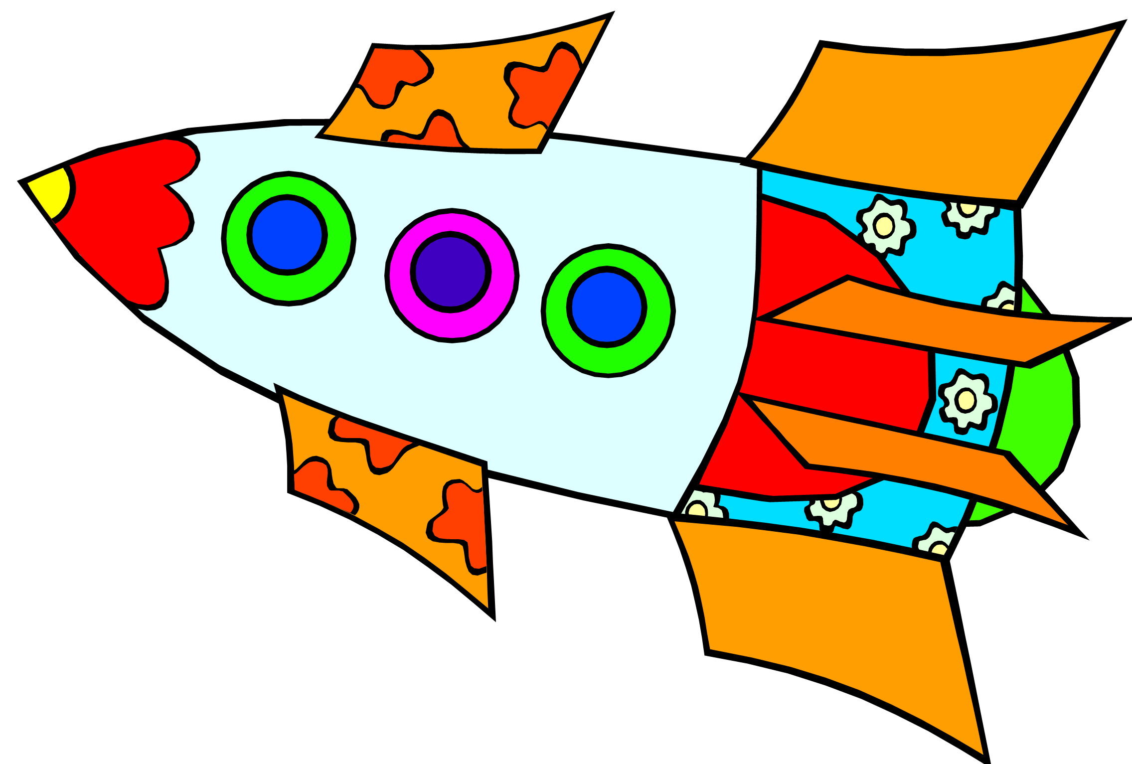 2271x1533 Rocketship Rocket Ship Drawing Free Download Clip Art