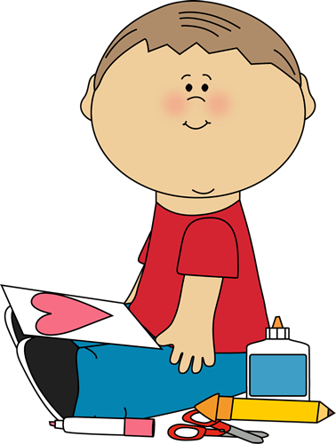 378x500 Boy Drawing A Valentine Picture Clip Art