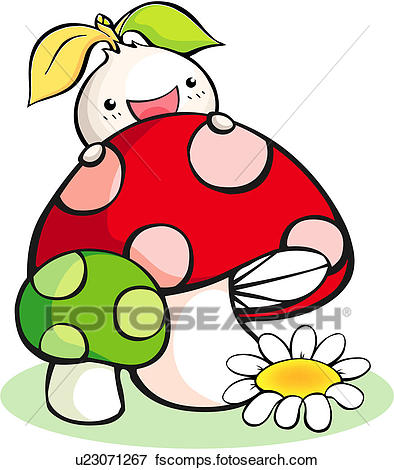 394x470 Clip Art Of Plant, Seed, Flowe, Mushroom, Sprout, Plants, Spring