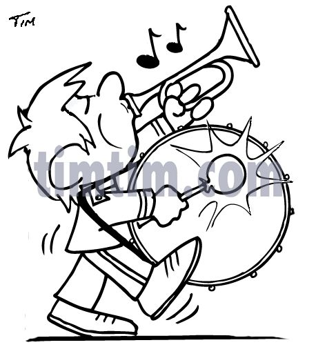 458x503 Marching Band Bass Drum Snare Sketch Clipart