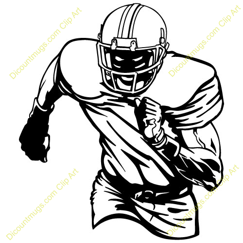 500x500 Football Player Clipart Free