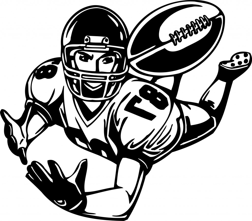 1024x898 Cartoon Drawings Football Players How To Draw A Cartoon Football