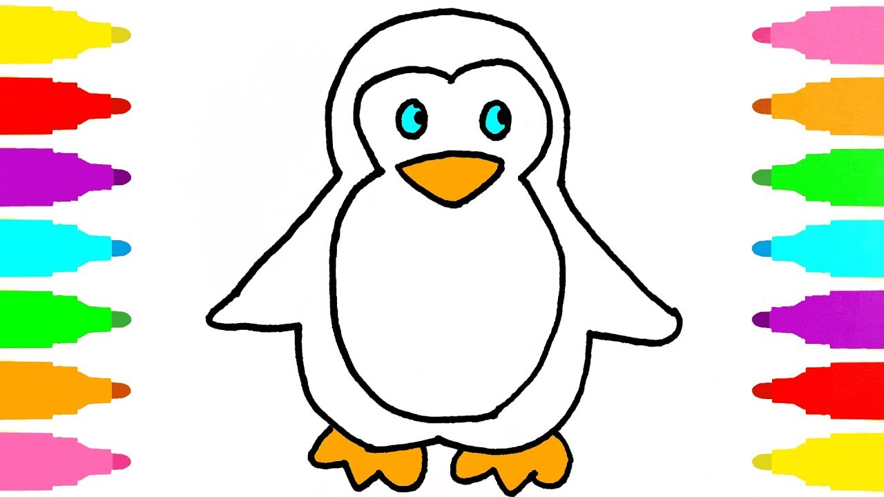 1280x720 How To Draw Penguin For Kids