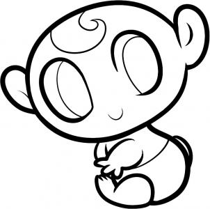 302x300 How To Draw How To Draw A Baby For Kids