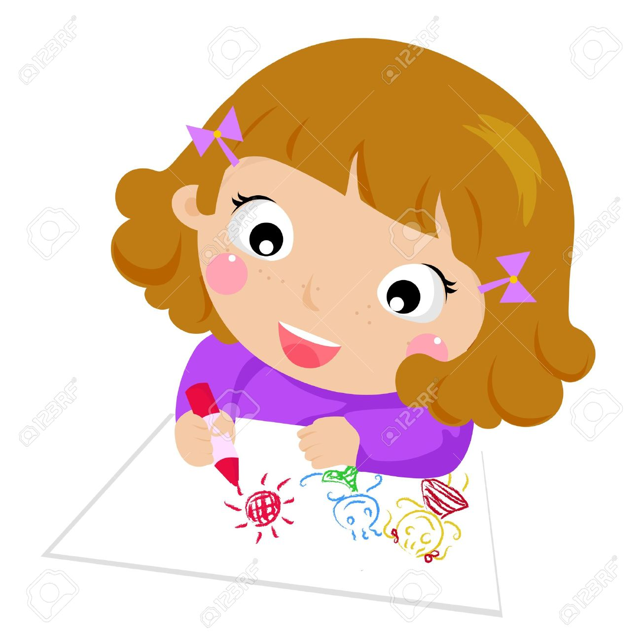 1300x1300 Kids Drawing Clipart Of Children
