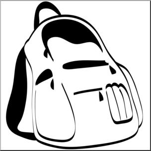 304x304 Clip Art Backpack Bampw I Abcteach