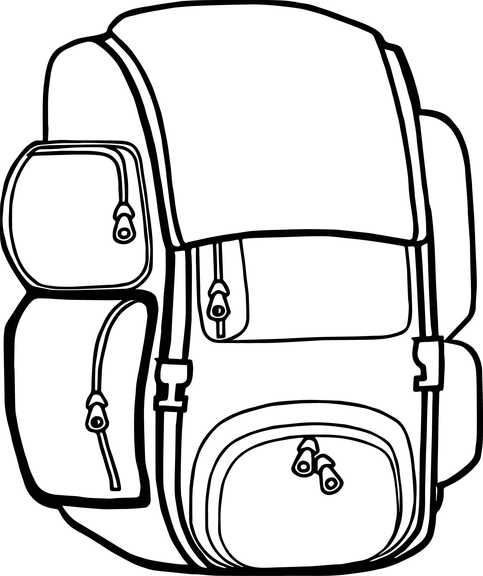 1551x1852 Coloring Pages Kids Backpack Free Images Camp Camping Coloring