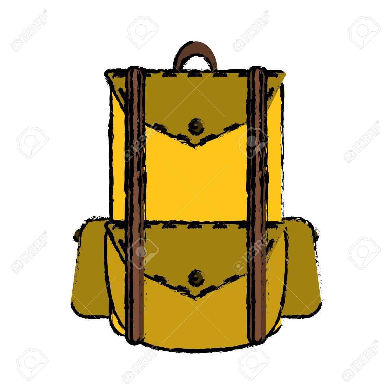 1300x1300 Drawing Backpack Travel Hiking Equipment Camping Vector