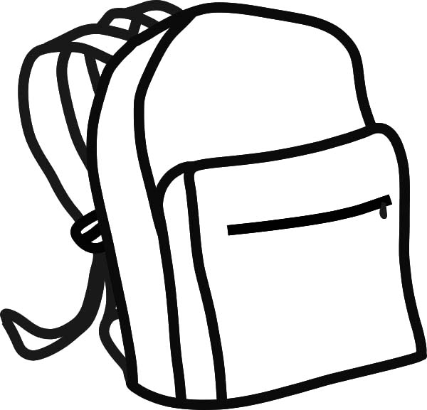 600x577 Education School Backpack Colouring Page Colouring Tube