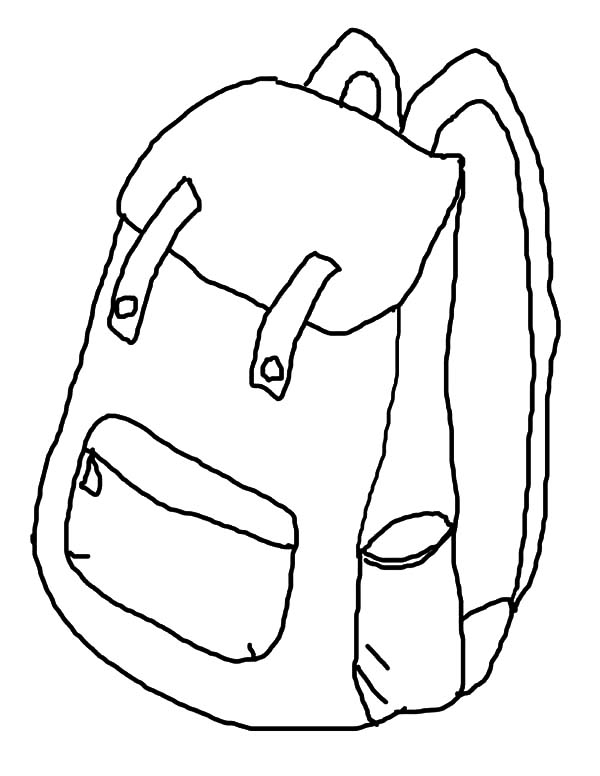 600x776 How To Draw Backpack Coloring Pages