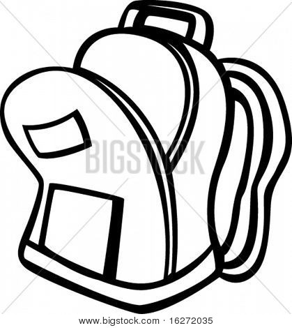 419x470 Open Backpack Clipart