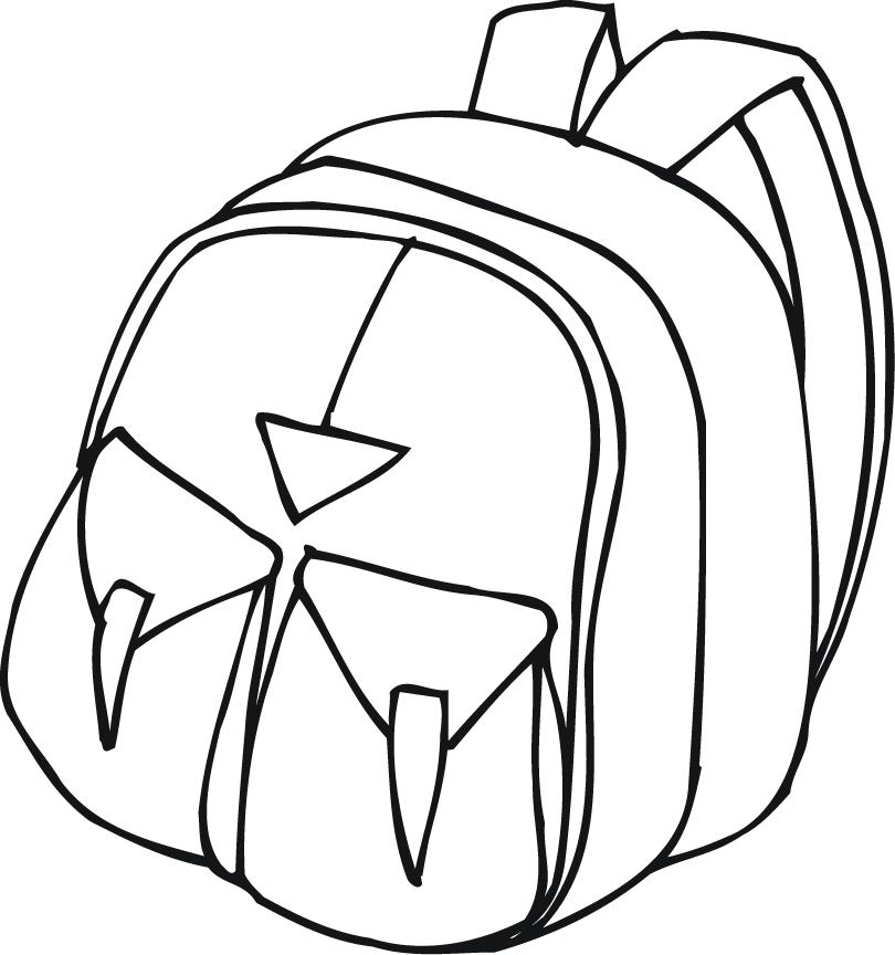 810x864 Printable Outline Of A Backpack With Pockets