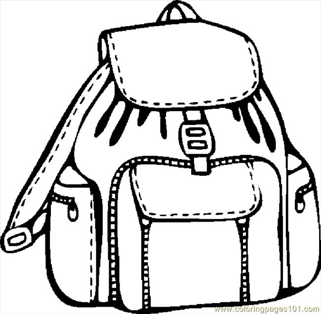 650x636 Backpack 08 Coloring Page