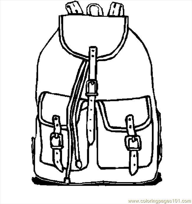 650x691 Backpack 10 Coloring Page