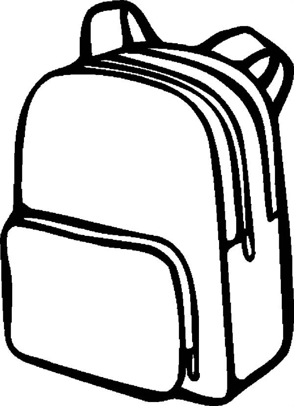 600x828 Backpack Drawing Inderecami Drawing