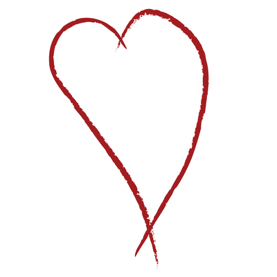 400x400 Drawn Heart Simple