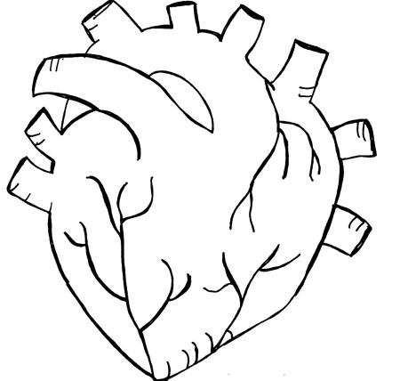 450x428 Heart Drawing Not Shallow