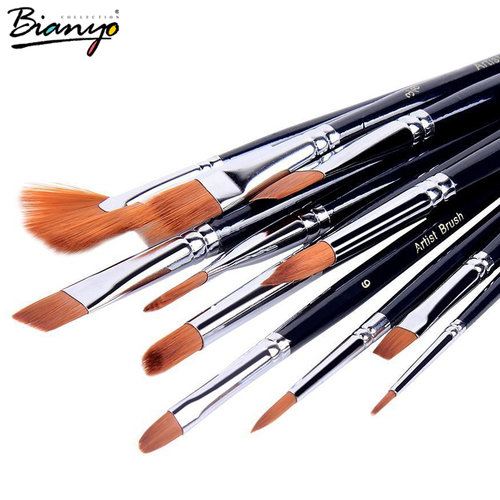 500x500 Conda 12pcs Round Brand Bristle Hair Brush Oil Paint Brush Set