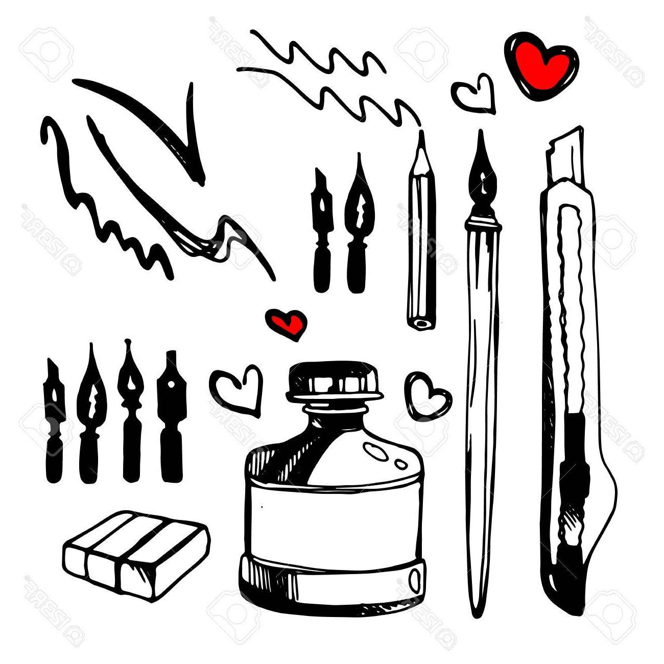 1300x1300 Hd Paint Brush Stroke Vector Drawing Ink Art Stock File Free